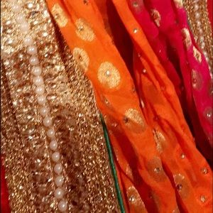 Dresses & Skirts - Beautiful orange and red Saree(2)